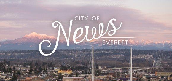 Pink sunrise over Everett