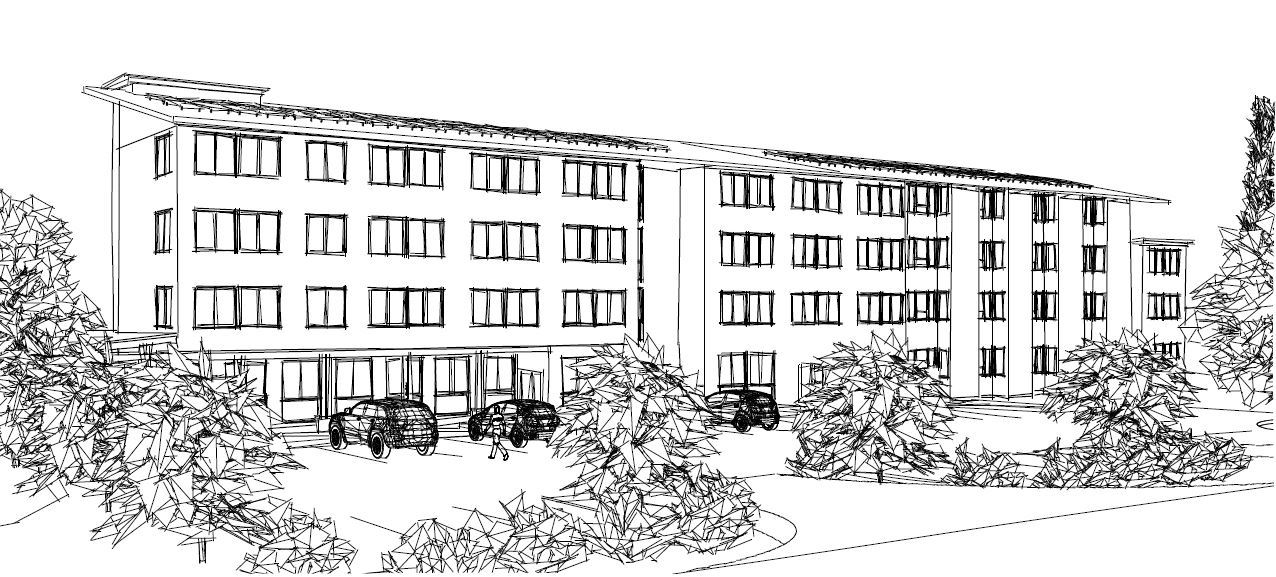 Rendering of the new supportive housing facility