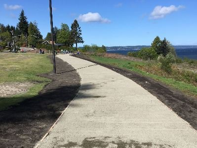 Path and turf project at Harborview Park