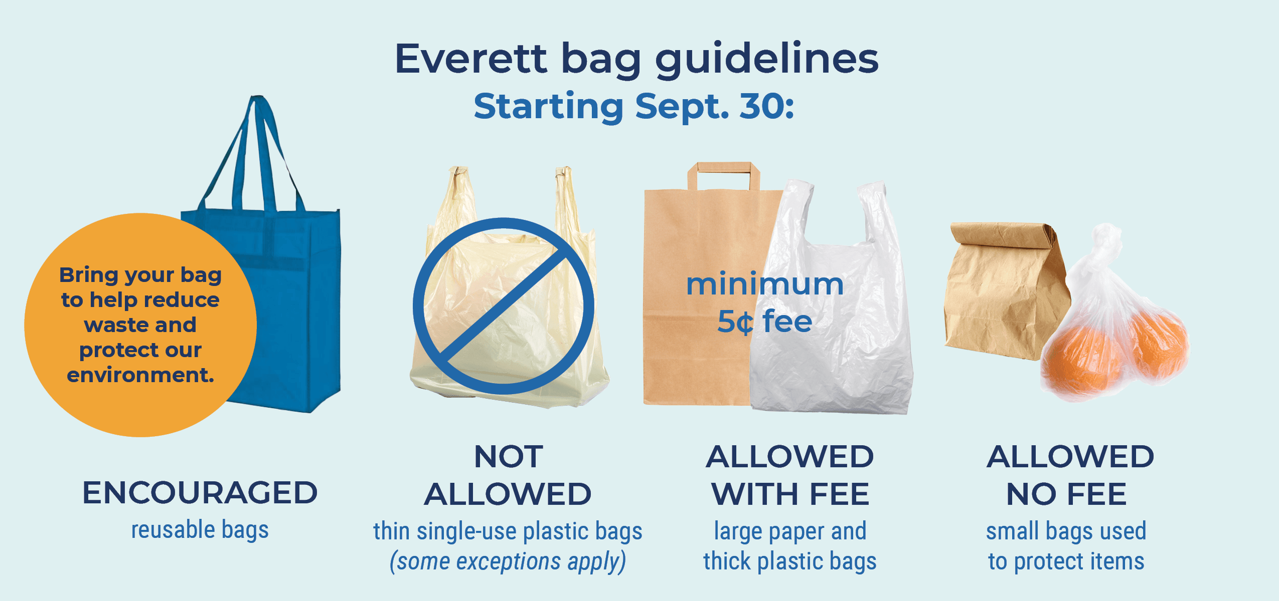 Bag guidelines horizontal