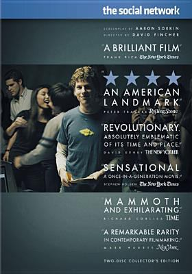 Image from the movie The Social Network showing young people chatting with one male facing forward a