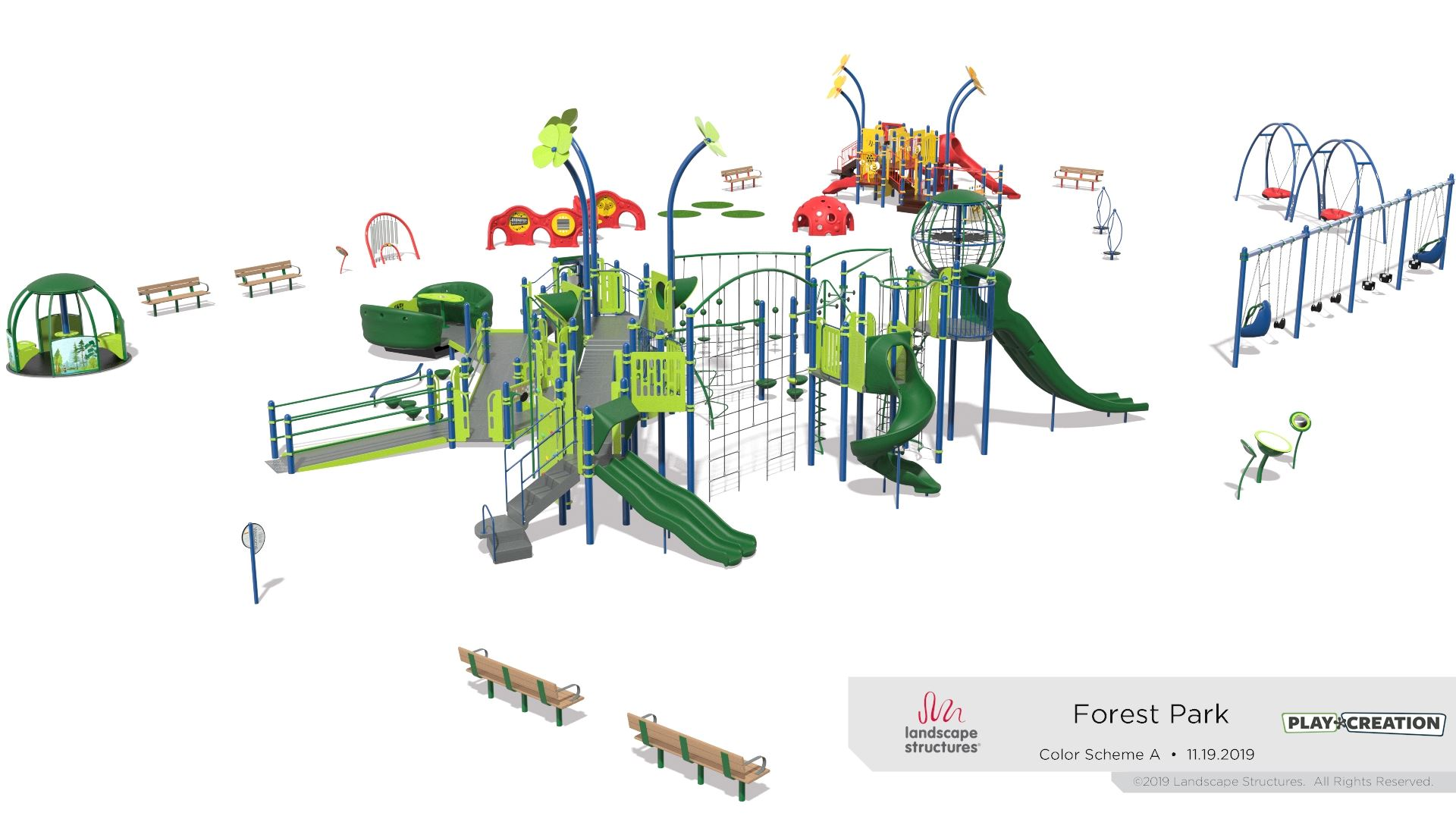 Forest Park playground rendering