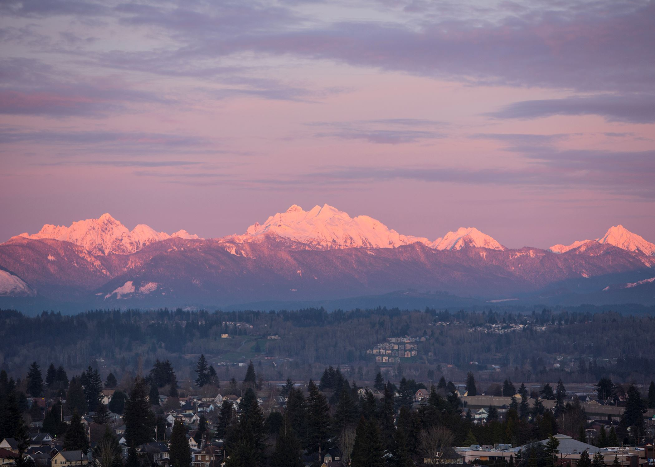 Sunrise over Snohomish County