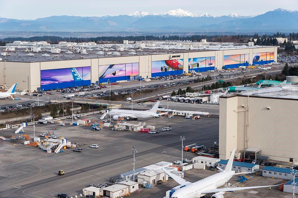 Boeing facility in Everett