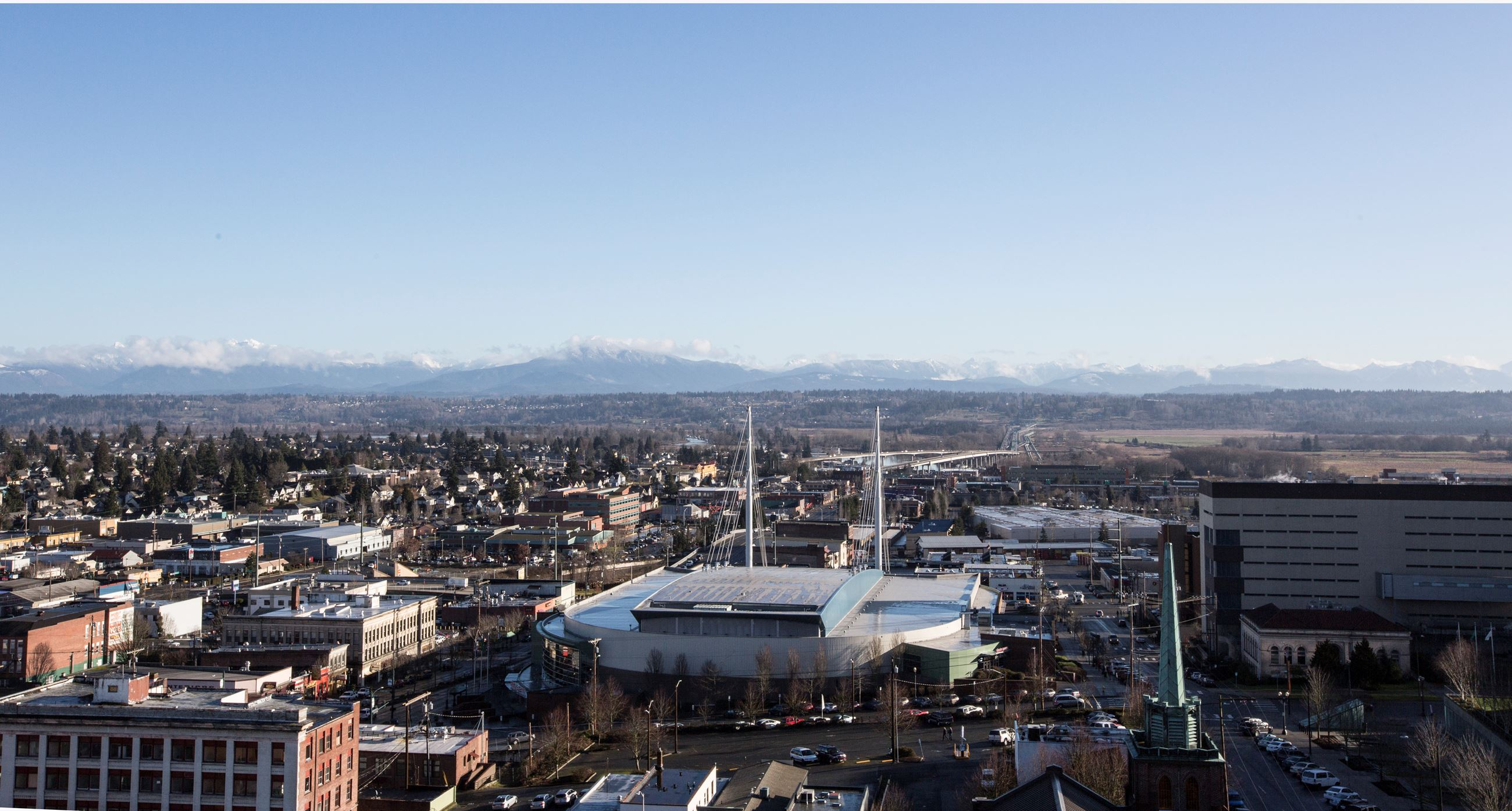 View of Everett from City Hall rooftop
