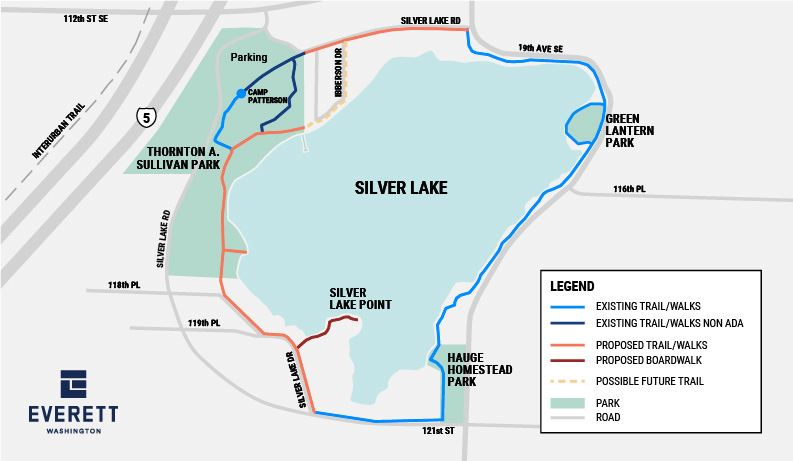 Proposed Silver Lake trail map