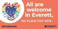 One Everett all are welcome banner