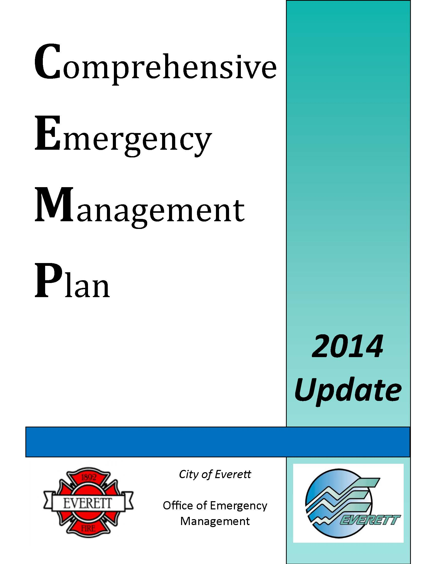 2014 Comprehensive Emergency Management Plan Cover