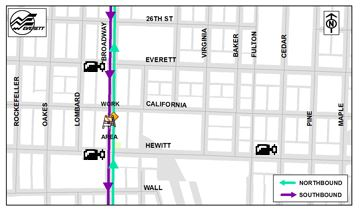 Broadway Bridge Detour Map Work Area