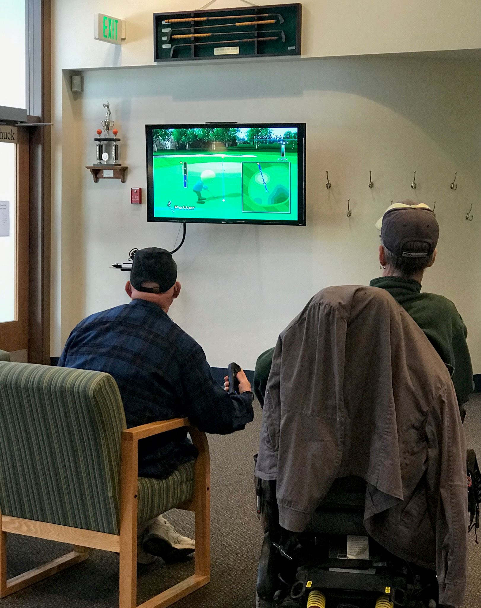 Wii Golf at the Senior Center
