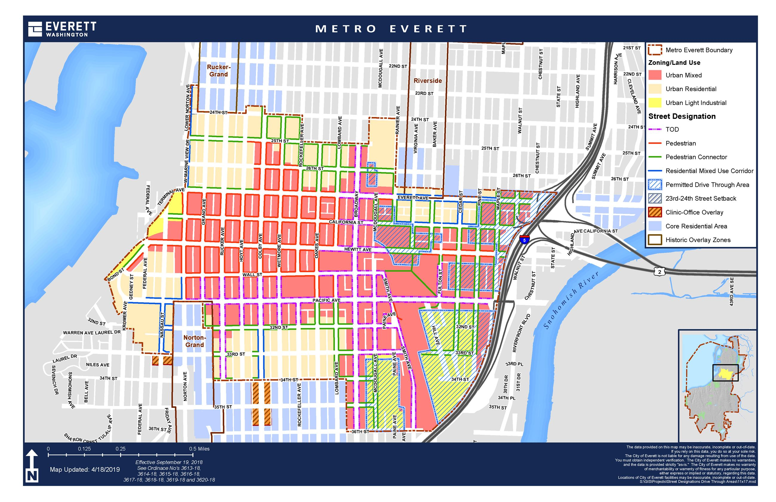 Metro Everett Land Use Street Designations Opens in new window
