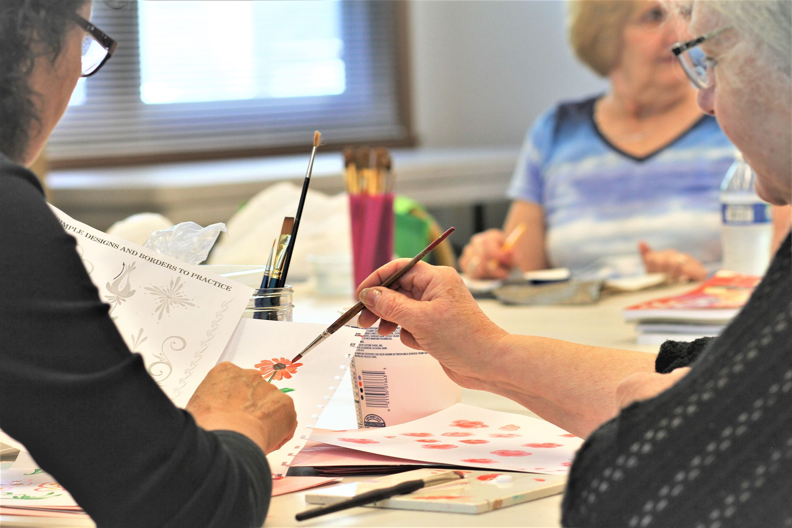 Enjoy Tole Painting in Mount Rainier at the Senior Center