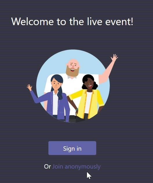 Teams Live Event